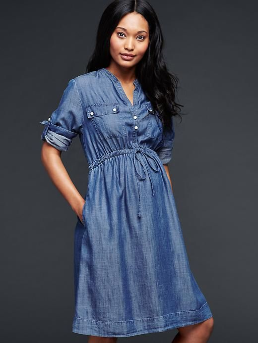 Maternity Shirtdress in TENCEL™ Lyocell