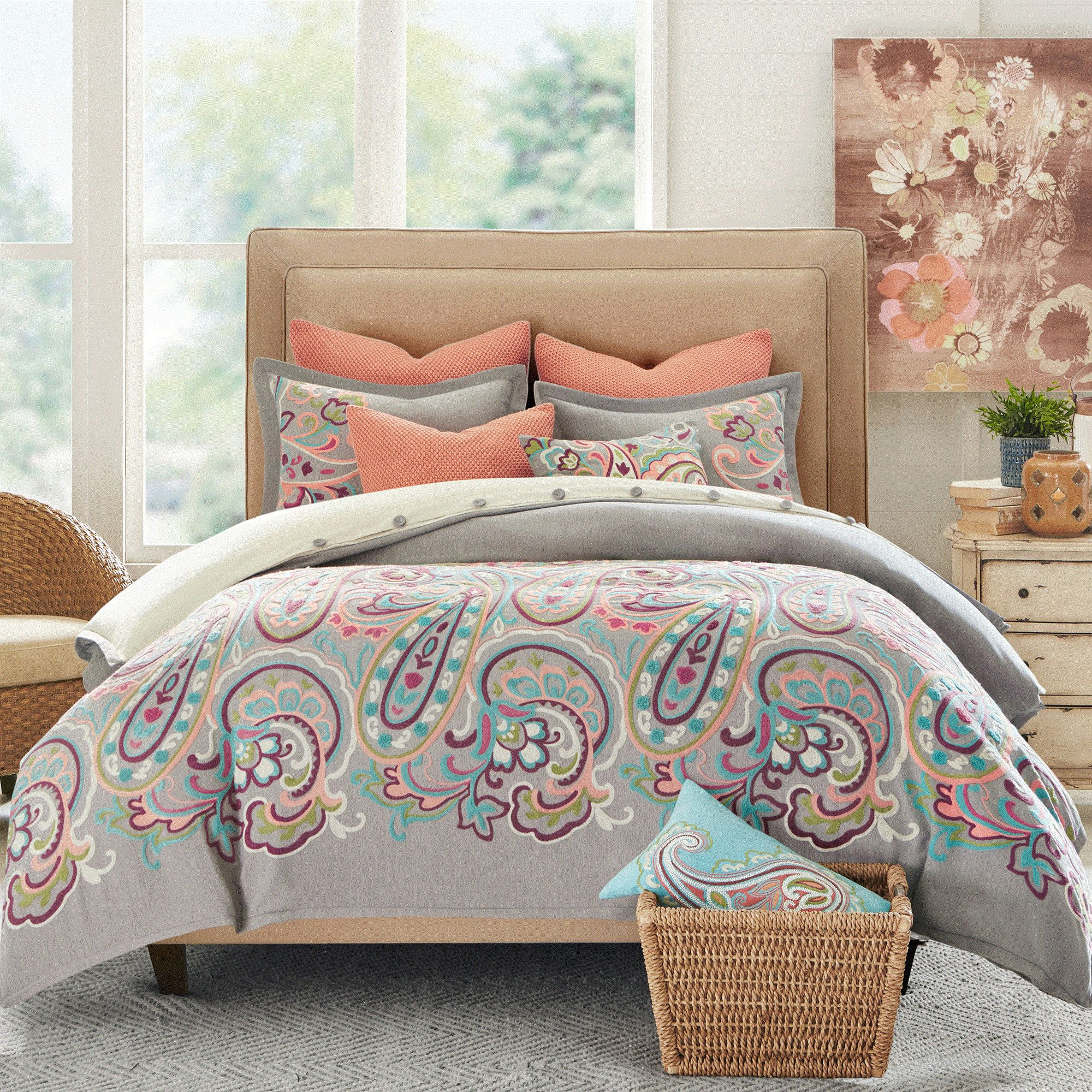 Bedding jardin collection bedding collections bed amp bath macy s - Hampton Hill Persian Paisley Comforter Set