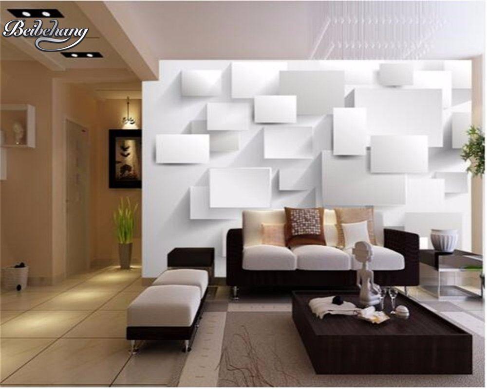 Beibehang 3d wallpaper Box abstract 3D wallpaper large mural 3D ...
