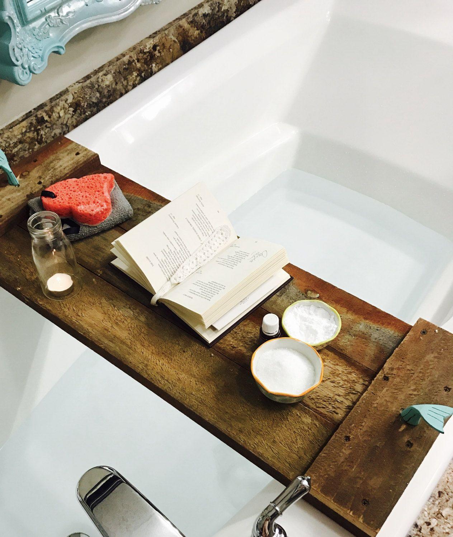 Mermaid Inspired Bathtub Table Caddy Tray Handmade Reclaimed ...