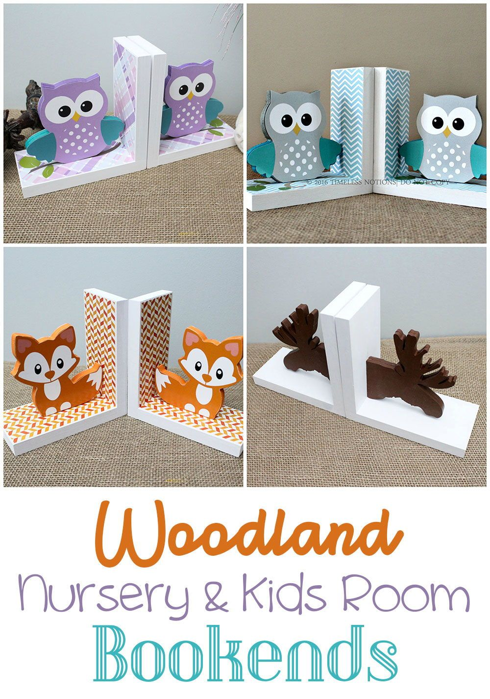These wooden bookends are perfect for the woodland forest theme ...