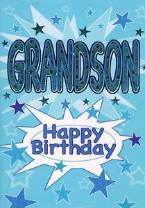 To my one and only grandson hope your day was awesome nicholas quality foiled happy birthday cards card grandson ebay m4hsunfo