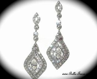 Castle - STUNNING Swarovski crystal vintage earrings - SPECIAL