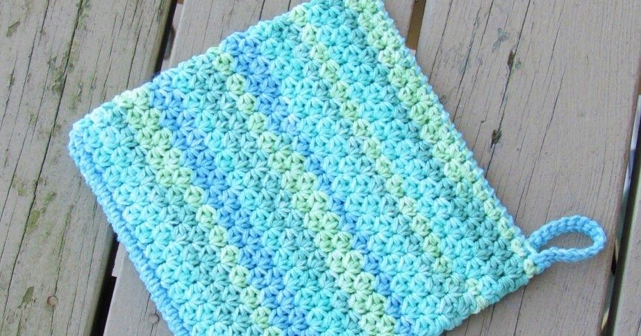 How to Crochet an Easy Peasy Potholder, Free Crochet Pattern | Pinterest