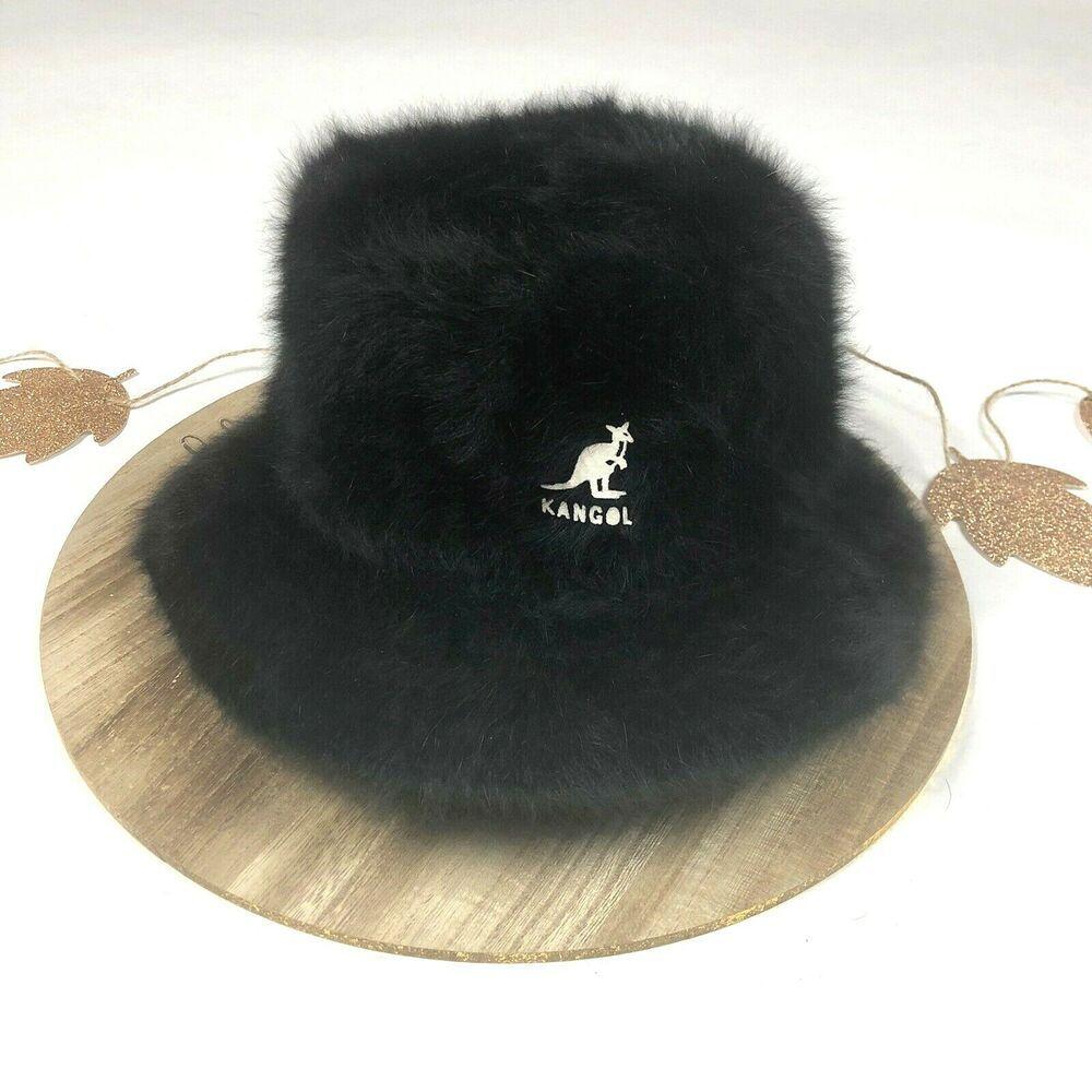 c7ac0575b 90s Authentic Kangol Womens Furgora Bucket Hat Fuzzy Angora Fur Hip ...