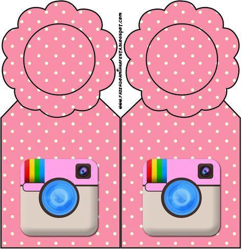 Instagram Mini Kit Com Molduras Para Convites Rotulos Para