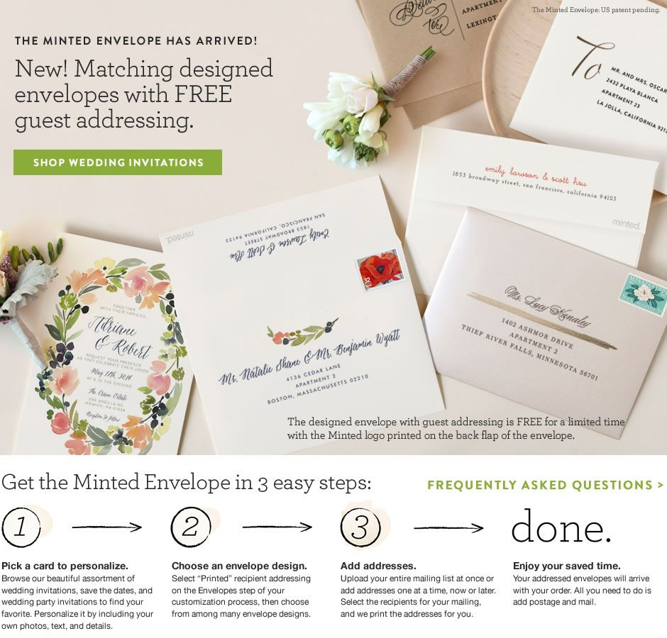 Wedding Envelopes & Wedding Addressing | Minted | Brides | Pinterest ...