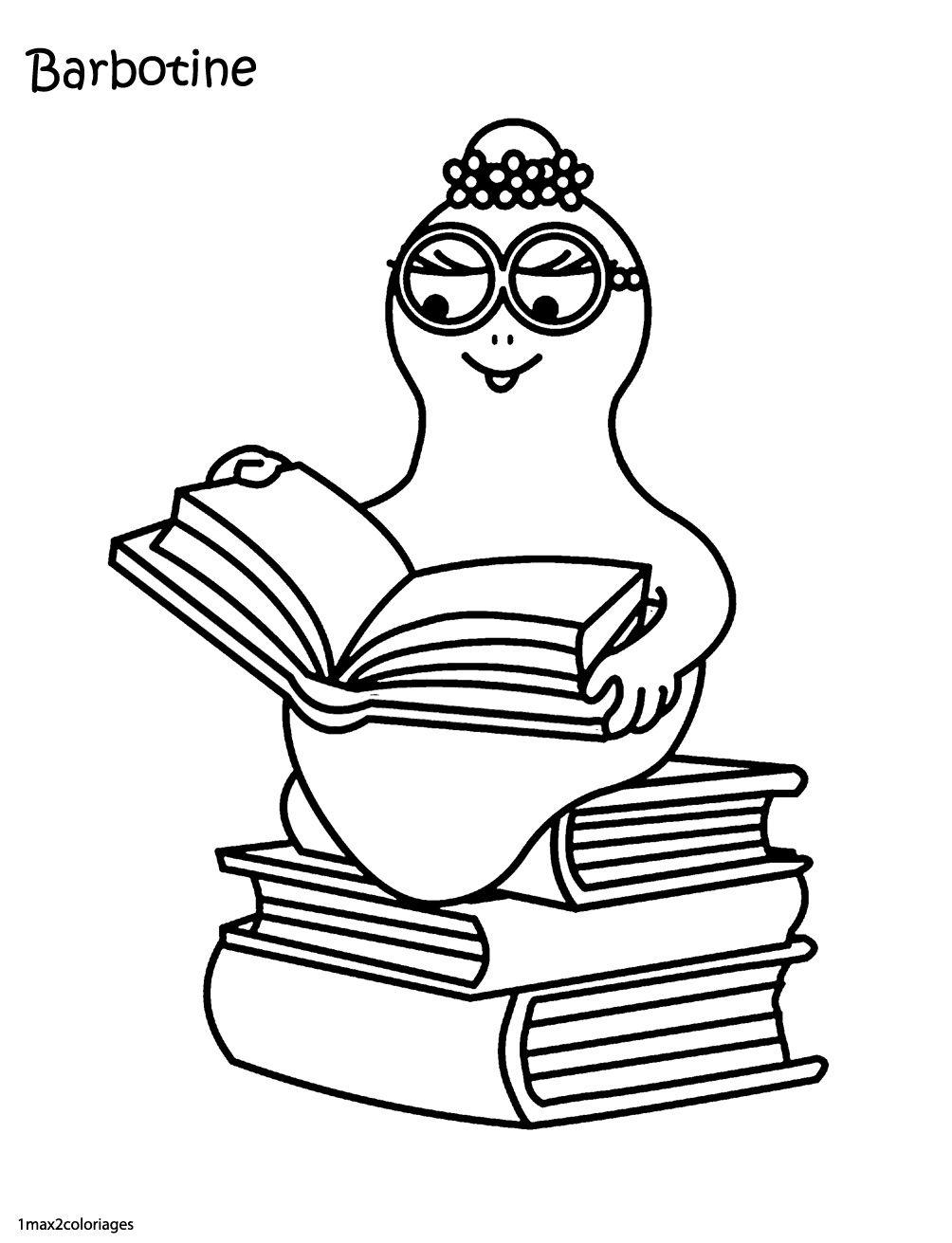Barbotine est une intellectuelle | Barbapapa | Pinterest | Exercises