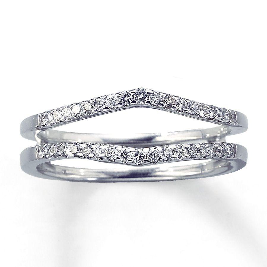 Diamond Enhancer Ring 14 ct tw Roundcut 14K White Gold
