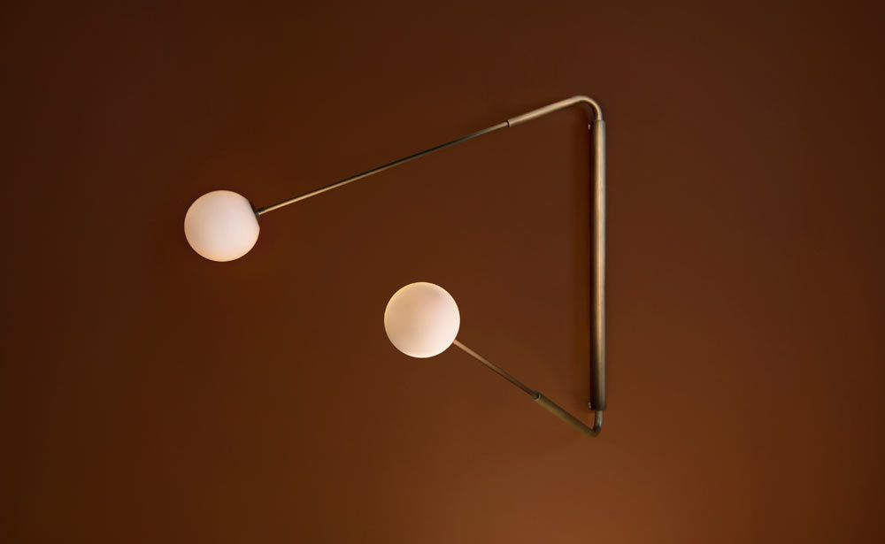 Paul Matter S Flutter Lighting Is A Take On A Deconstructed Wall Clock Swing Arm Wall Light Wall Lights Wall Lamp