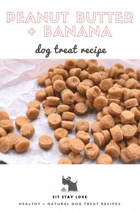 Peanut Butter Banana Training Treats By Homemade Dog Cookies
