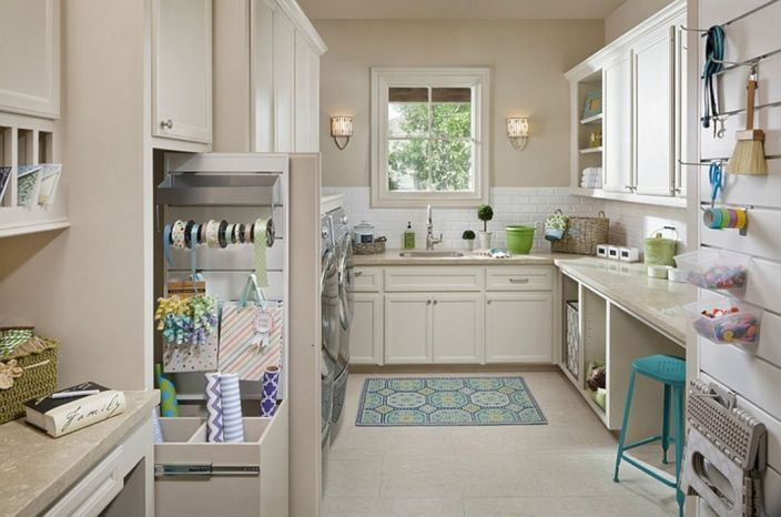 Extraordinary 20 Laundry Craft Room Combo Design Ideas for Inspiration images