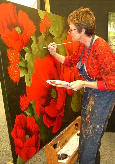 Arizona Fine Art Expo artist working - Beth Zink | Things to