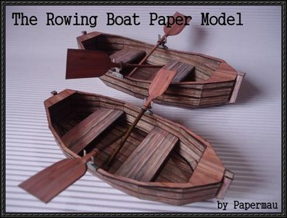 A Simple Rowing Boat Free Paper Model Download | Bags,Paper,Bow/Box