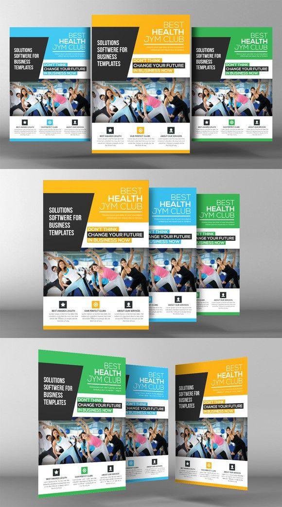 Gym & Fitness Club Flyer Template. Flyer Templates. $6.00