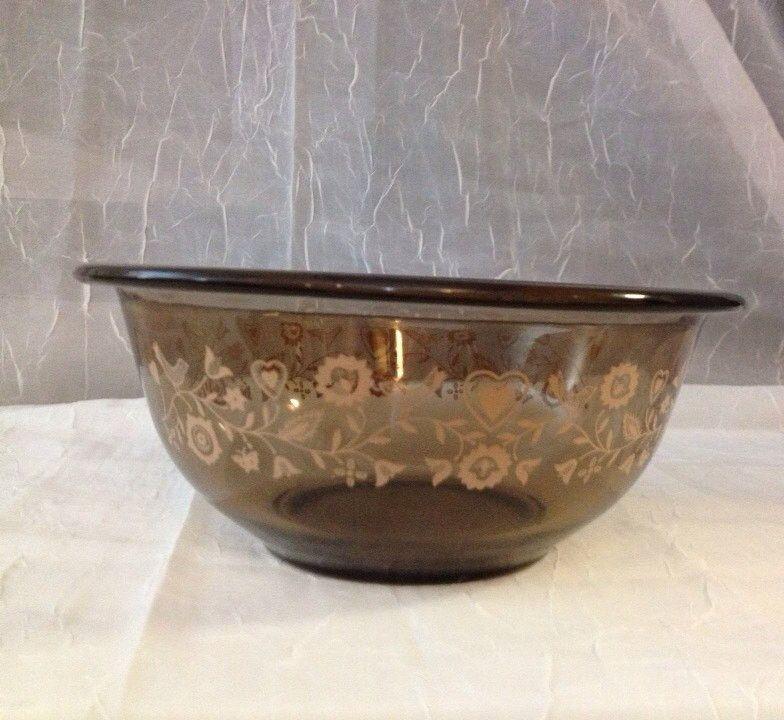 Clear Pyrex  Festive Harvest (1988)  Bowl Vintage Amber Pyrex 1.5 L Mixing Bowl Art Deco Vintage Retro