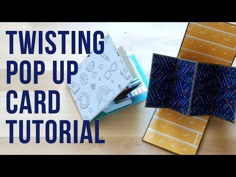 Welcome Back To Another Paper Chaser To Tutorial Today We Ll Be Making One Of My Favourite Cards The Twist And Twist Pop Pop Up Card Templates Card Tutorial