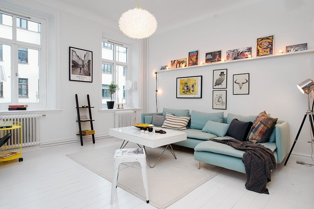 Captivating Two-Room Swedish Apartment Displaying A Highly ...