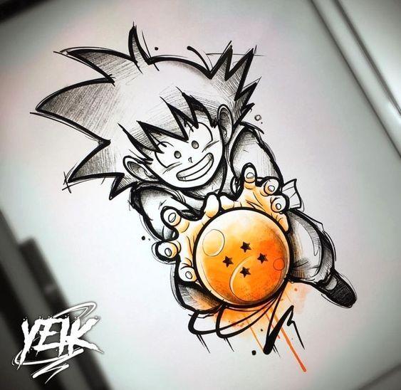 Pin De Kryspyn Em Dragon Ball Z Figures Tatuagens De Anime Desenhos Para Tatuagem Desenho Tatuagem