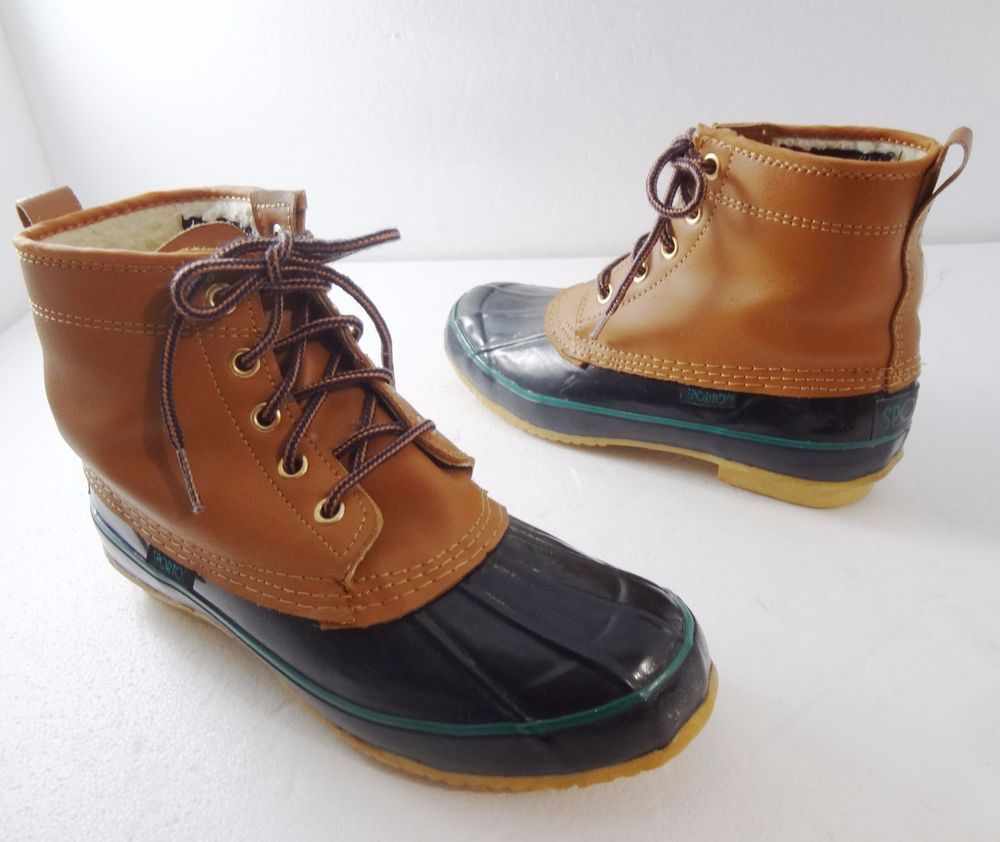 Sporto Winter Snow Insulated Brown Duck Boots Womens 6