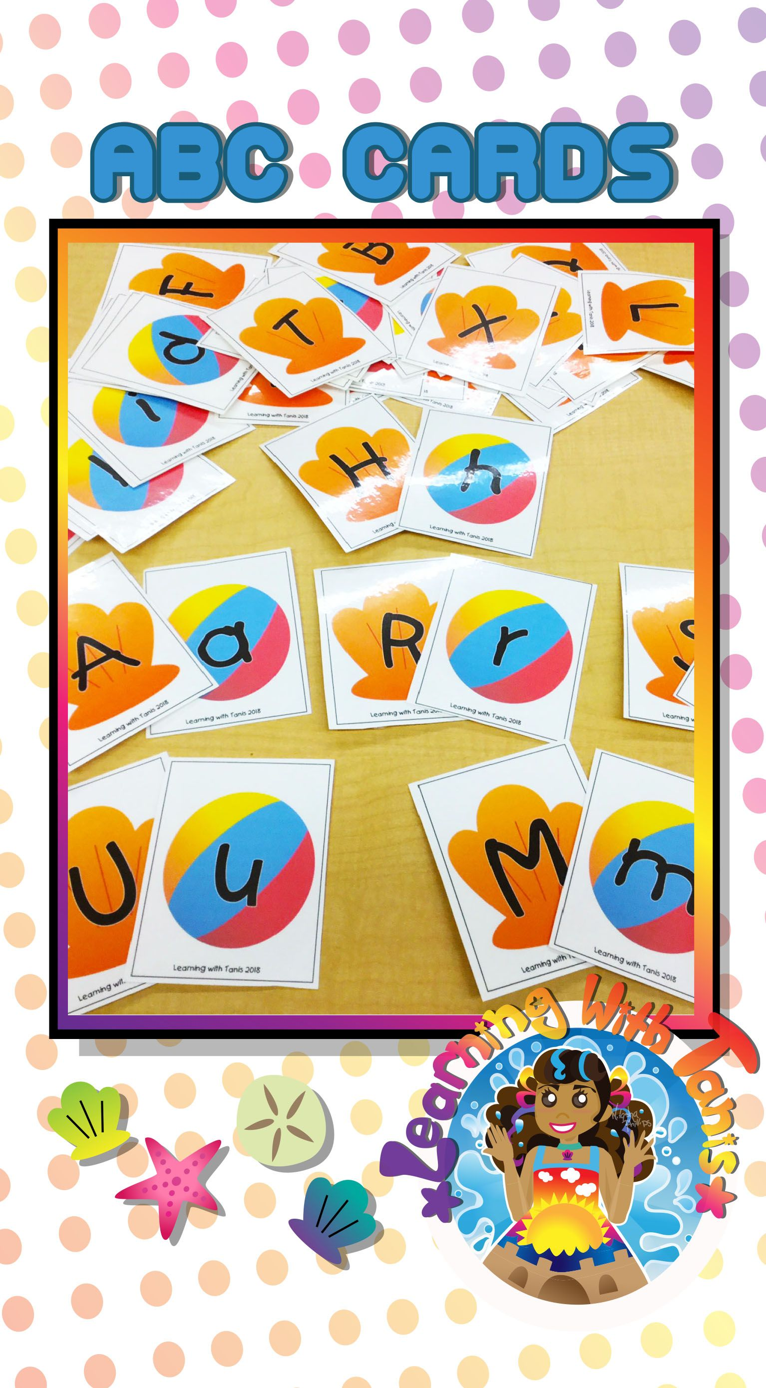 Alphabet Cards Beach Theme