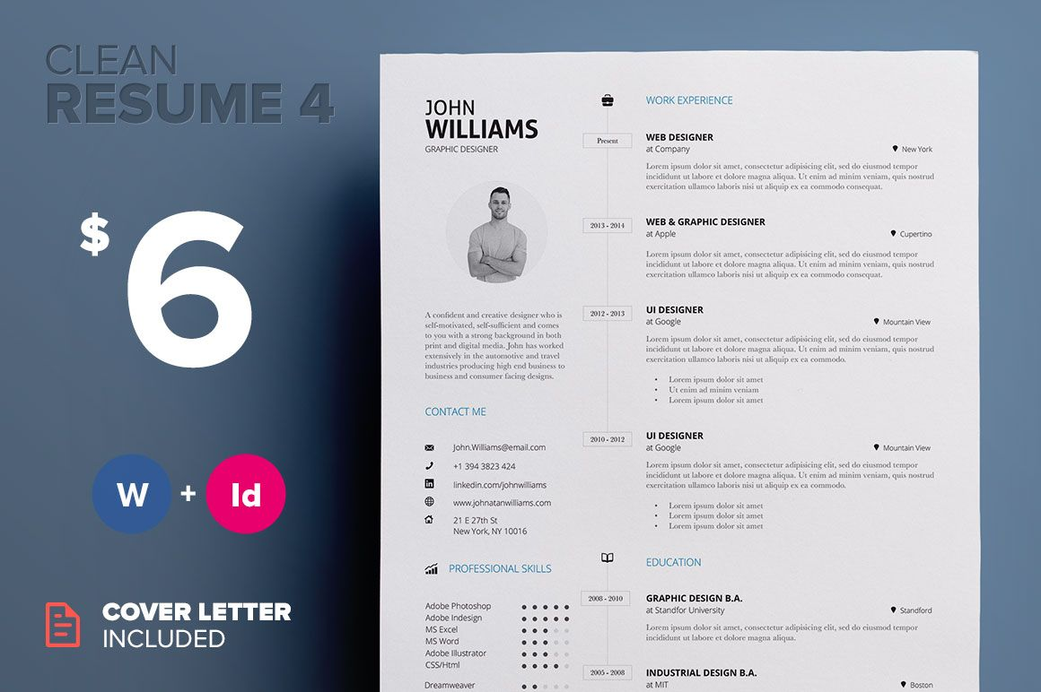 Clean ResumeCv Template Volume