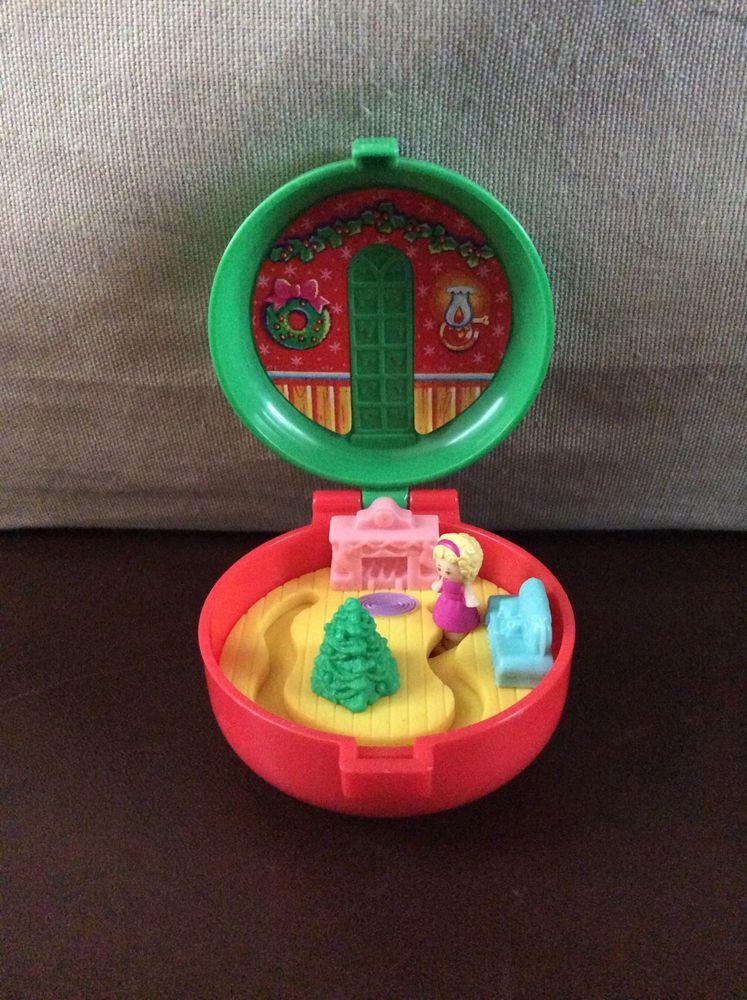 Vintage Bluebird Polly Pocket 1993 McDonald's Totally Toy Holiday Compact | eBay