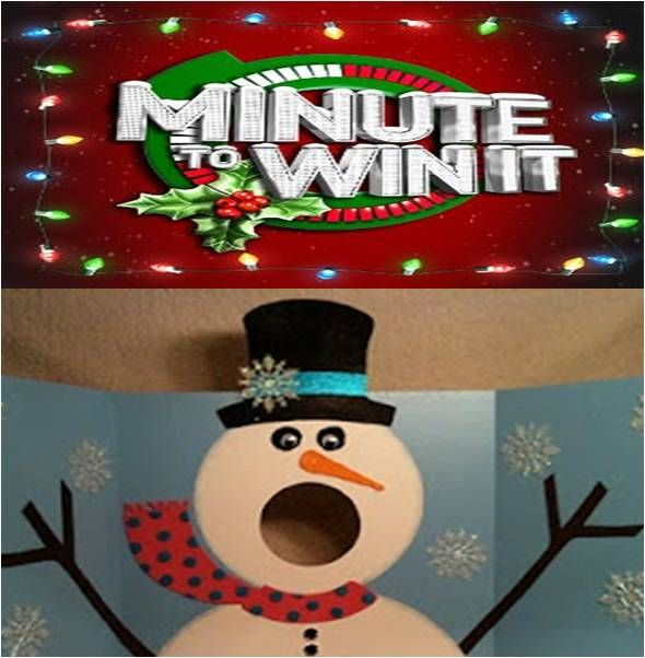Minute To Win It Christmas Game Feed Frosty Toss 10 Ping