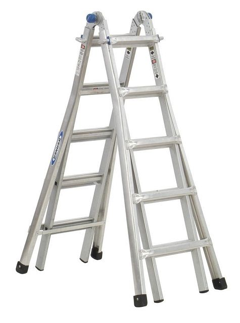 Werner Mt 22 300 Pound Duty Rating Telescoping Multi Ladder 22 Foot Review Omni Reviews Multi Ladder Telescopic Ladder Best Ladder