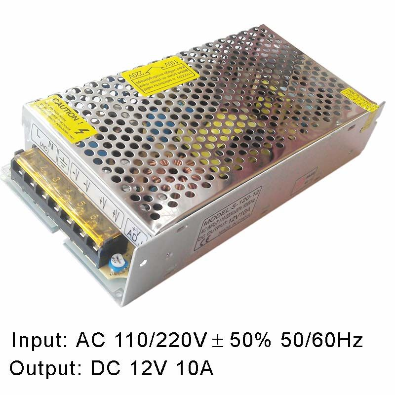 Ac To Dc10 3v 14v Adjustable Power Switching Supply 110v 220v Ac To Dc 12v 10a 120w Electrical Equipment Power Acdc