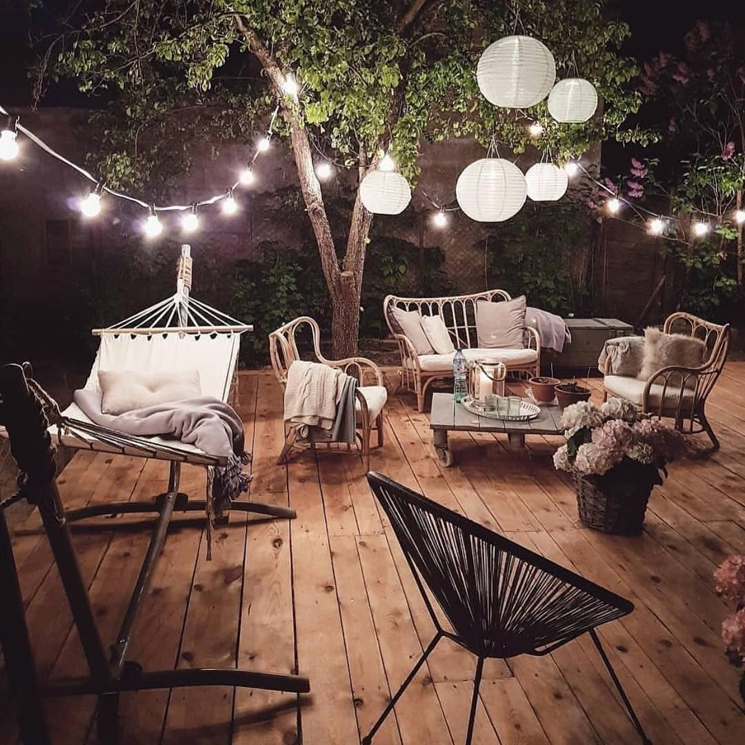 White Pine Deck Hammock String Lights It Must Be