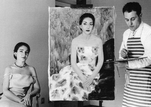 Callas being painted bySilvano Caselli in 1957.