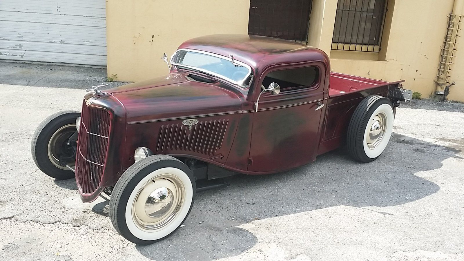 1935 Chopped Ford Pick Up The H A M B Hot Rod Pickup Hot Rods Cars Muscle Hot Rod Trucks