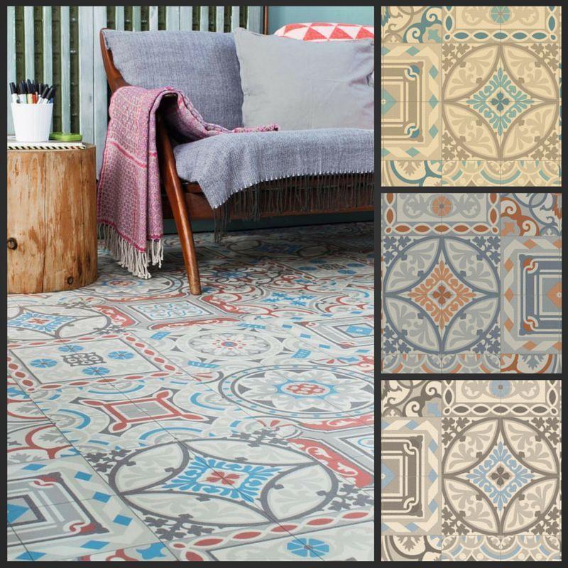 Moroccan Style Vinyl Flooring Sheet Cushion Floor Kitchen Bathroom ...