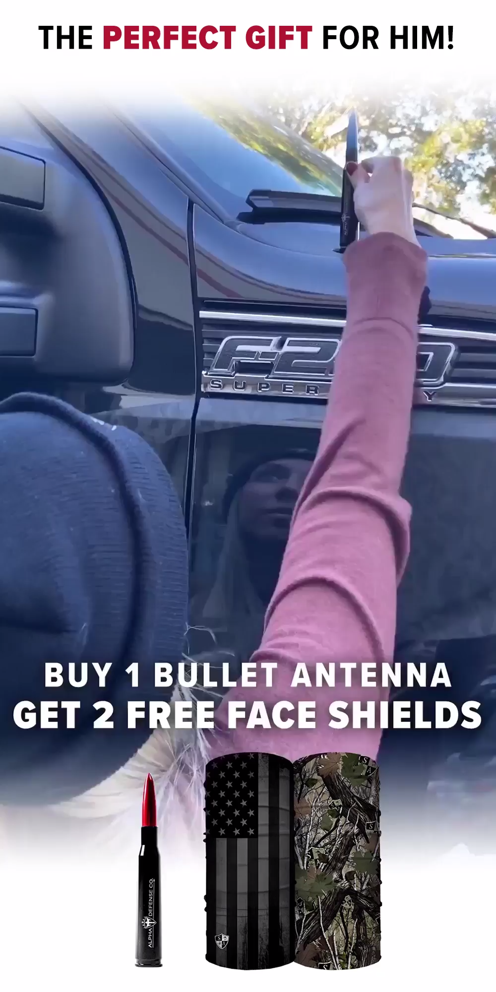 Upgrade Your Truck Antenna with the New Bullet Antenna Pack! Pick Any Bullet Antenna & Get 2 FREE Face Shields. Fits Any Truck or Jeep! Get Yours Today and Join the Alpha Squad!
