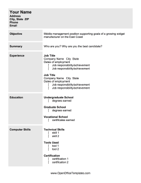 Free Printable Resume Templates Those Looking To Finding A Management Position Can Use This