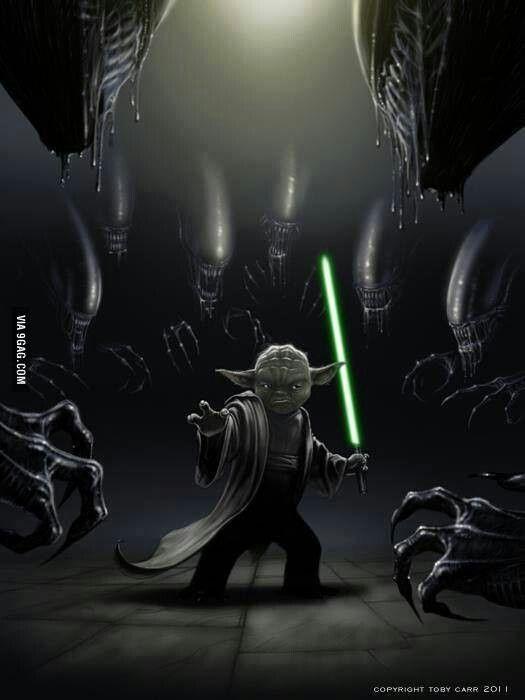 Yoda Vs. Aliens