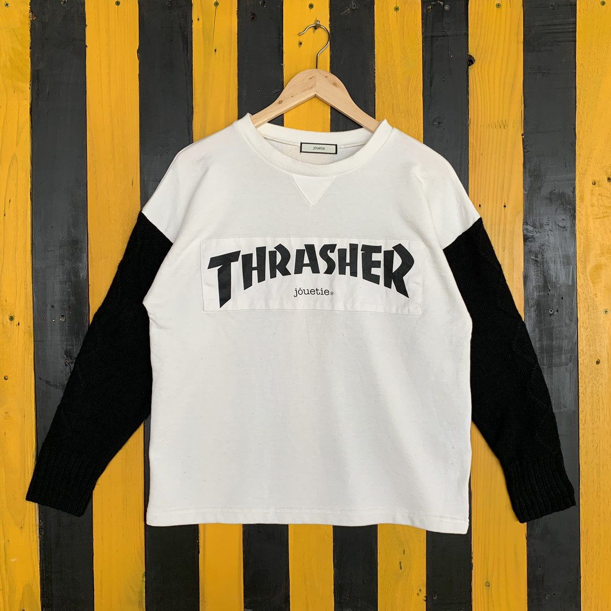 Excited To Share The Latest Addition To My Etsy Shop Thrasher X Jouetie Big Logo Sweatshirt Jumper Pullover White C Sweatshirt Designs Thrasher Used Clothing [ 1242 x 1242 Pixel ]