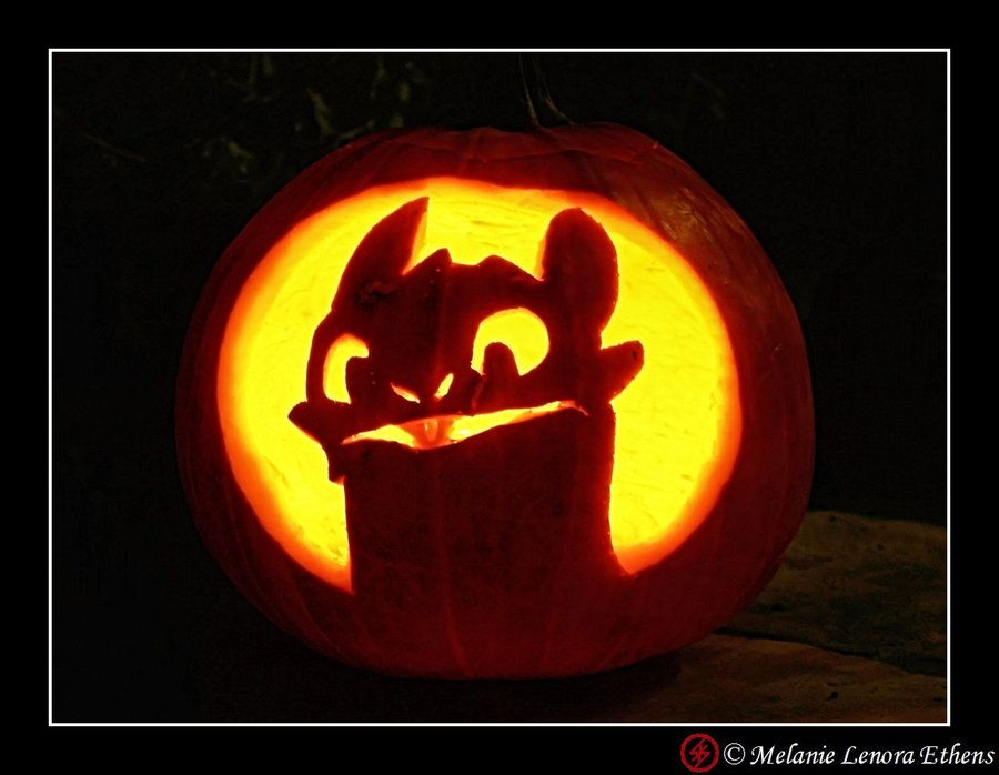 Toothless Pumpkin By Ryoshi No Hikari On Deviantart Halloween Pumpkin Stencils Pumpkin Carving Easy Pumpkin Carving
