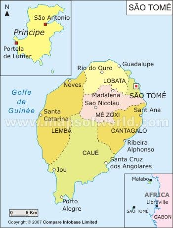 São Tomé And Príncipe Bing Images São Tomé And Príncipe - Sao tome and principe map