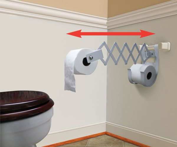 Accordion Style Toilet Roll Holder Lets You Bring The Paper Closer Diy Toilet Paper Holder Toilet Paper Holder Stand Toilet Paper Holder