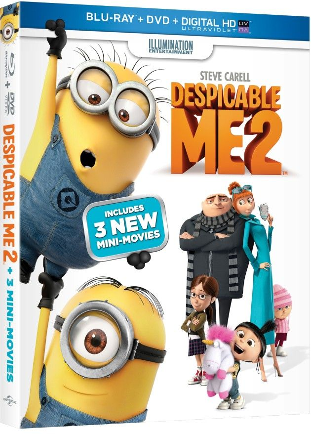 Despicable Me 2 Dvd Review Minion Mini Movie More Com Imagens