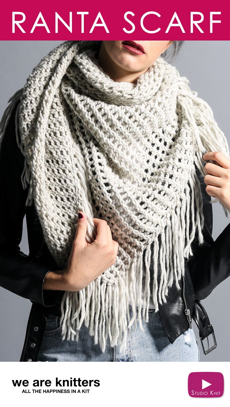 Ranta Scarf Knit Kit Contest Giveaway with We Are Knitters | Häkeln