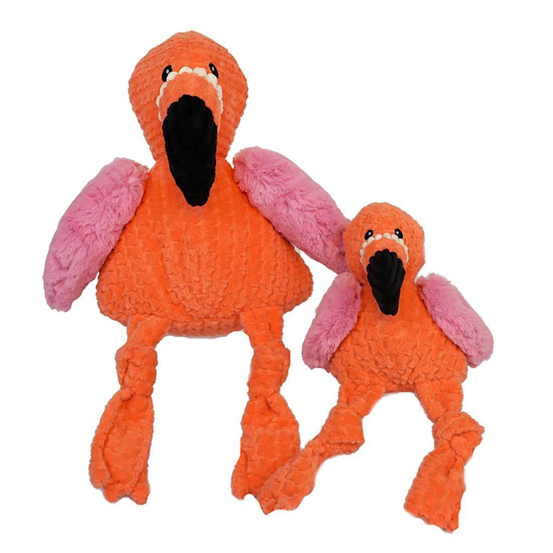 Hugglehounds Knotties Dog Toy Flamingo Dog Toys Pet Paws