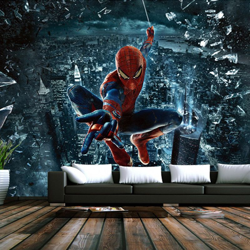 Personnalis 3d murale papier peint spiderman peintures for Decoration chambre spiderman
