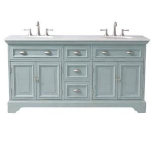 Home Decorators Collection, Sadie 67 in. Double Vanity in