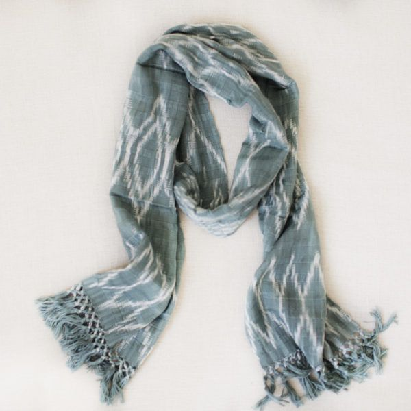 Hand woven Atitlán Scarf made with natural dyes