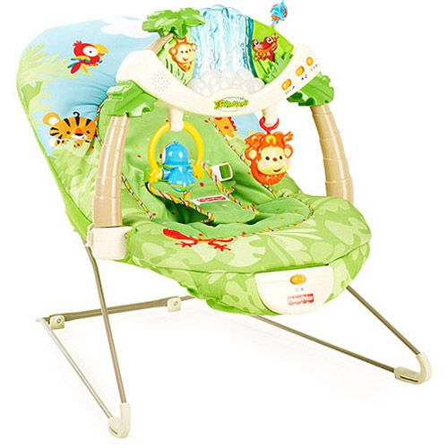 1d8a5e4ec Fisher Price Rainforest Baby Bouncer w  Vibration   Sounds