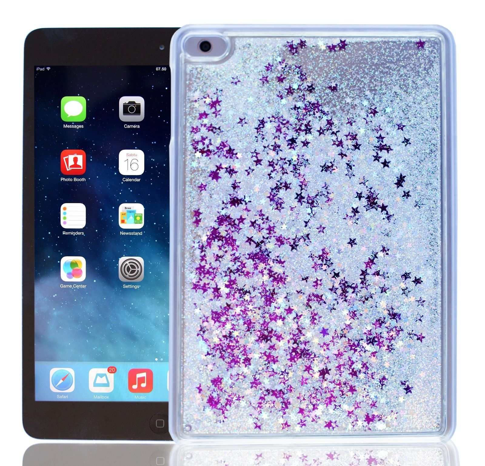 Get your eye bling-blinged with this dazzling LIMITED EDITION liquid  glitter iPad Mini case. You cannot find this unique iPad Mini case anywhere  else!