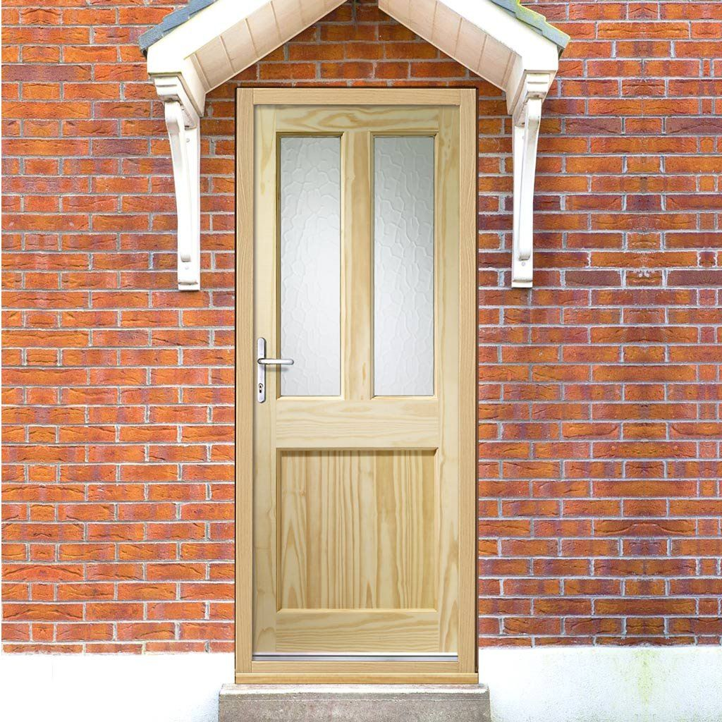 malton external pine door is dowel jointed with flemish pattern